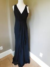 NWT J Crew Evie Long Dress Silk Chiffon in Black Sz 4 Small 43115 $350