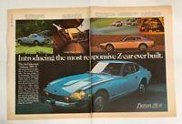 1975 Datsun 280Z 280-Z Print Ad Advertisement Car Nissan Most Responsive 2 Page