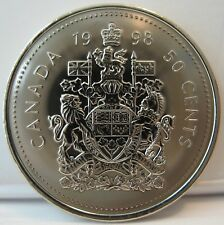 "RCM - 1998 - 50-cent - Coat of Arms - Proof Like - Uncirculated ( no ""w"" )"