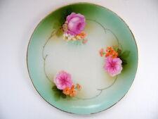 Vintage Porcelain Reinhold Schlegelmilch RS Germany Collector Plate Pink Roses