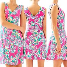 LILLY PULITZER Dahlia Dragon Fruit Pink Toucan Can Dress Size  XL  New