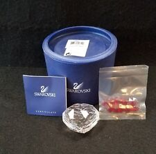 SWAROVSKI HEART SHAPE BOX WITH RED HEARTS *NEW*