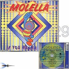 "MOLELLA ""IF YOU WANNA PARTY"" RARE CDM ITALO DANCE - MINT"