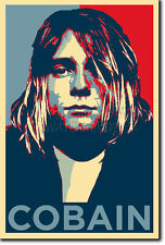 Kurt Cobain Arte Foto Print (Obama esperanza) Cartel De Regalo