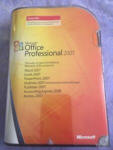 Microsoft  2007 Office Professional Edition retail packaging upgrade