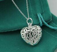 Collier Femme Pendentif Coeur en Plaqué Argent - Bijoux des Lys