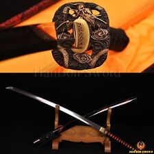 JAPANESE SAMURAI SWORD KATANA CLAY TEMPERED FOLDED STEEL BLADE CAN CUT TREE