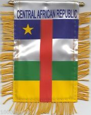 Central African Republic Flag Hanging Car Pennant for Window Rearview Mirror