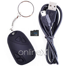 Mini DVR Llavero Espía Cámara Oculta Spy Cam Negro + Tarjeta 8GB a0906