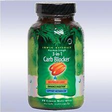 IRWIN NATURALS 3-IN-1 CARB BLOCKER (150 SOFTGELS) fat block intercept diet pill