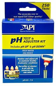 AQUARIUM PHARMACEUTICALS FRESHWATER PH TEST & ADJUSTER KIT DELUXE API. FREE SHIP