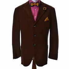 Uomini Corneliani Blazer Suit Made in Italy Taglia 52 r 7 MARRONE