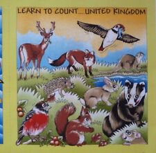 Learn to Count Book PANEL United Kingdom Britannia Fabric Craft Sewing Quilting