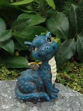 Miniature Dollhouse FAIRY GARDEN ~ Mini Baby Boy Blue Dragon Figurine ~ NEW