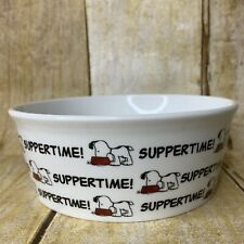 Peanuts Snoopy Round Pet Bowl Classic Suppertime Spell Out You Dog Cat Size