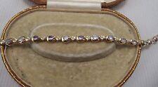 Tanazite & Diamond Bracelet set in 14ct Yellow Gold