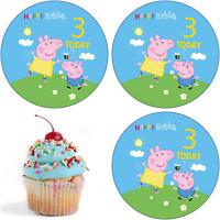 3 Geburtstag Peppa Pig Wutz Eßbar Tortenaufleger Party Deko Tortenbild Muffin