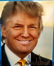 New ListingDonald Trump Autographed 8x10 Photo Gold auto The Apprentice Fan Mail Jsa Psa