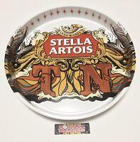 """Stella Artois Belgian Lager Tennessee Metal Beer Tray 13"""" Diameter - Brand New!"""