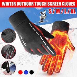 Winter Warm Gloves Touch Screen Thermal Windproof Waterproof Riding Ski Sport UK