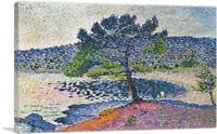 ARTCANVAS Beach - Evening Effect 1902 Canvas Art Print by Henri Edmond Cross