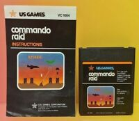 Atari 2600 Commando Raid Game & Instruction Manual Tested Works Rare