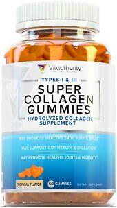 Vitauthority Super Multi Collagen Gummies: Collagen Peptides, Tropical Flavor