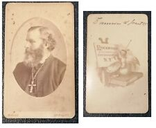 CDV - CARTE DE VISITE - PRIEST - BROADWAY, N.Y. - ROCKWOOD (20-1-24)