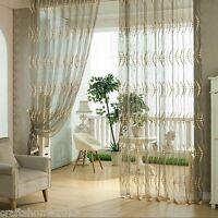 1 Schlaufenschal Vorhang Gardinen Gardinenschal Dekoschal Voile Transparent Neu