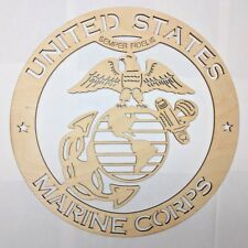 USMC wall art Laser cut sign gift idea marines Unfinished Wood Crafts Supplies