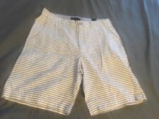 Tahari White And Gray Striped Shorts 33 NWT