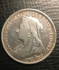 Queen Victoria Silver One Crown Coin 1898 LX11