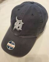 NWT~'47 Twins Brand Detroit Tigers Navy Fitted Franchise Hat W/Silver Size XL