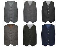 Tweed Scottish Highland Argyle Kilt Waistcoat 5 Button Outfit Vest 6 Colours