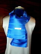 100% woven silk men's cravat/scarf  Sky blue with blue stripes  NEW