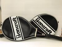 Bancroft Vintage Graphite SPIRIT Tennis Rackets Set of 2 w/Zippered Cases