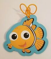 "Disney Parks Finding Nemo Clown Fish Luggage Tag Orange White Blue 5"" x 5"""