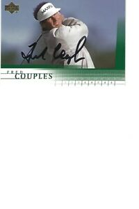 FRED   COUPLES   GOLF           AUTOGRAPHED    CARD