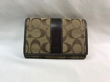 Coach Hampton Wallet Signature Canvas and Leather Clutch Wallet
