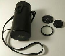 HOYA HMC 62mm UV (0) Filter Lens Japan + Vivitar Lens Cap and Carry Case