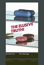 "DAMIEN HIRST: The Elusive Truth! (2 Pills), 2004 Exhibition Poster 39"" x 28"" NEW"