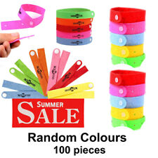 Wholesale 100pcs Anti-Mosquito Bug Repellent Wrist Band Summer Picnic Hiking UK