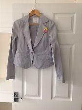 "Mesdames ""PEPE JEANS LONDON"" bleu marine/blanc rayé blazer jacket. Taille S. Bon escroc"