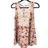 Kori Sleeveless Boho Flowy floral lace tunic women's size medium Tank top