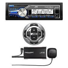 JVC Marine Bluetooth USB KDX35MBS Radio, JVC Wired Remote, Sirius XM Radio Tuner