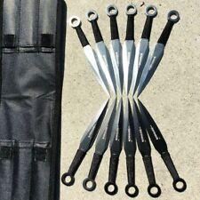 "12pc Naruto Kunai 6"" THROWING KNIVES Ninja Knife Fixed Blade Dagger SET w Sheath"