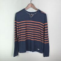 Buffalo David Bitton Men's Sweater Striped Long Sleeve Knit Pullover Size Small