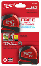 Milwaukee: 48-22-6625G: Compact Tape Measure 25 FT: 2 Pack