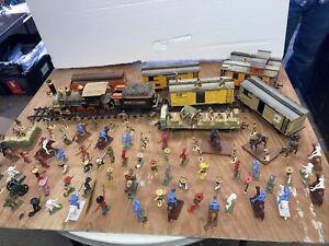 Mexican Britain's Marx Train Crescent Banditos Federalies Diorama Play 54mm 1/32