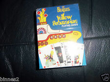 THE BEATLES YELLOW SUBMARINE OFFICIAL SUBAFILMS PLAYING CARDS SEALED PACK !